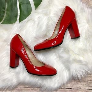 Talbots Red Patent Leather Heels